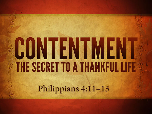 Contentment: Loving What's Right in Front of You